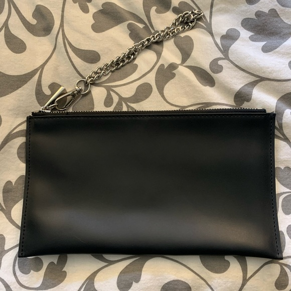 Black Danier Leather wristlet